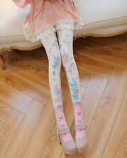 Thicken Kawaii Sweet Mori Anime Girl Pink Bunny Printing Lolita Tights Pantyhose