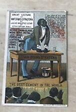 Best Cement In The World Black Americana Victorian Trade Card 1885