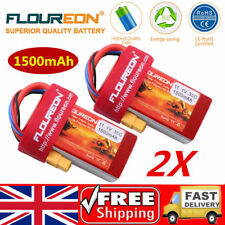 2x 3S 35C 11.1V 1500mAh LiPo Battery XT60 for RC Car Truck Truggy Airplane Hobby
