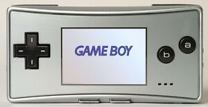 BRAND NEW Faceplate for Original Nintendo Game Boy Micro GBM Silver