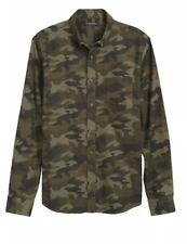Banana Republic Lux Flannel Untucked Camouflage Slim Fit Shirt NWT Men's SZ L