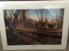 """Terry Redlin """"Autumn Run"""" signed limited edition Prints"""