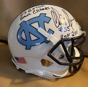 Chris Hanburger UNC North Carolina Mini Helmet Double Inscriptions Note Decal