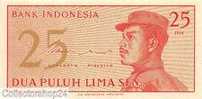 Indonesia 25 Sen 1964 Unc Pn 93a