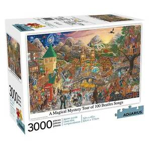 Beatles 3000 Piece Jigsaw Puzzle - A Magical Mystery Tour of 100 Beatles Songs