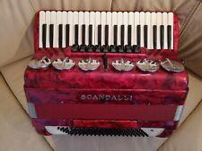 Scandalli italienisches Akkordeon 120 Bass mit Koffer