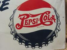 Vintage Double Dot Pepsi Display Sign > Antique Pepsi:Cola Soda RARE 9827
