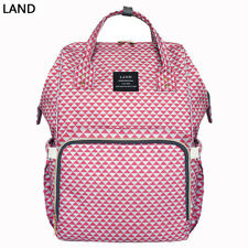 GENUINE LAND Multifunctional Diaper Bags Mummy Backpack Changing Bag Baby Nappy