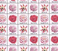 #1876-79 ROSE CAMELLIA DAHLIA LILY FLOWERS Full Mint SHEET OF 48 MNH OG