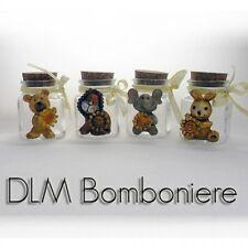 DLM24353 Barattoli in vetro con animali assortiti in resina (24 pezzi) bombonier