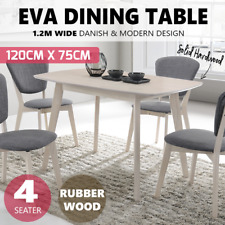 Dining Table 1.2M 4 Seater Solid Wood Timber Oak Veneer Scandinavian Cafe