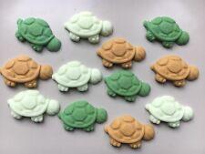 Edible Sugarpaste Tortoises cake topper x 12