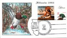 #IL18 Illinois 1992 Duck Milford FDC (0131992IL18001)