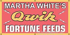 MARTHA WHITE'S QUICK FORTUNE FEED STORE OLD SIGN REMAKE BANNER ART MURAL 2X4