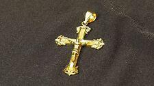 Authentic Solid Yellow Gold 14KT Jesus Cross Crucifix 3.70g Pendant B15