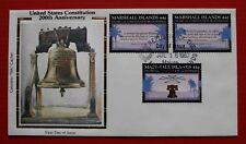 "Clearance - Marshall Islands (149-151) 1987 US Constitution Colorano ""Silk"" FDC"