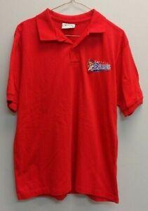 Vintage Buffalo Bisons AAA Minor League Baseball Red Polo Golf Shirt Size L Rare