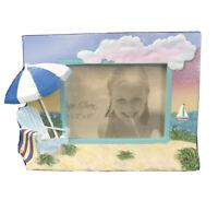 Cape Shore 3D Resin Beach Chair Photo Frame 3x5 Landscape Orientation
