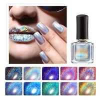 6ml BORN PRETTY Holographic Nail Polish Polish Varnish Silver Purple Glitter
