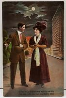 A man and A Maiden Walking 1911 to Nathalie Virginia Girttie Waddel Postcard D15
