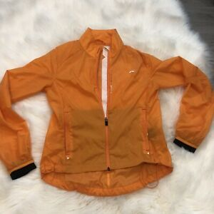 Kjus Systems Womens SZ 34/XS Orange Nylon Windbreaker Jacket