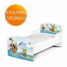 PIRATES MDF TODDLER BED + FULLY SPRUNG MATTRESS NEW