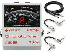 New Boss TU-3s Chromatic Mini Guitar Pedal Tuner! FREE Hosa Cables!