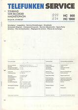 TELEFUNKEN Service Manual Ladder piani HC 800 HC 1800 b1412