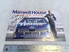Sterling Marlin Maxwell House 22 Signed Signature Card NASCAR Racing Race Driver