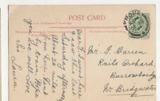 Mr. F. Warren, Rails Orchard, Burrowbridge, Bridgwater 1909 Postcard, M034