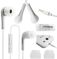 White Handsfree Headphones Earphones Earbud with Mic- EHS64AVFWE For Samsung