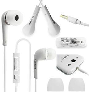 White Handsfree Headphones Earphones Earbud with Mic- EHS64AVFWE For Samsung
