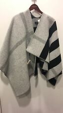 NEW BURBERRY LONDON WOOL CASHMERE PONCHO CAPE WRAP SHAWL SCARF BLANKET