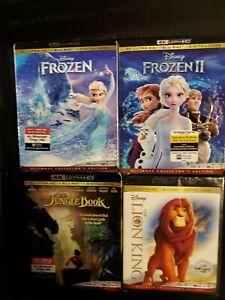 FROZEN 1&2 +THE LION KING +THE JUNGLE BOOK, 4K ULTRA HD +BLU-RAY, NO DIGITAL, LO