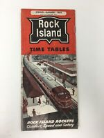 1964 Rock Island Railroad Time Tables Rocket Freights