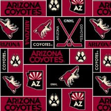 NHL HOCKEY ARIZONA COYOTES FLEECE FABRIC BLANKET MATERIAL BY THE 1/2 YARD CRAFTS