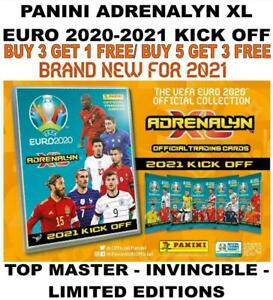 Panini Adrenalyn XL EURO 2020 2021 KICK OFF - TOP MASTER/ INVINCIBLE/ LIMITED ED