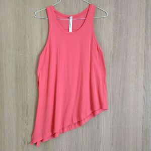 Lululemon Womens Sz 8 Tank Top Pink To The Point Side Tie Sleeveless Cotton