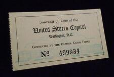 Vintage United States Capital Tour Ticket Stub