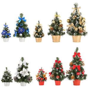 Mini Christmas Tree Table Top Small Desk Xmas Tree Party Ornament Decorated Tree