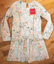NWT HANNA ANDERSSON ECRU GARDEN SMOCKED FLORA FLORAL DRESS 150 12 NEW!