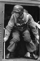 "German paratrooper preparing to jump WW2 War Photo ""4 x 6"" inch B"