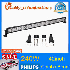 PHILIPS 42INCH 240W LED LIGHT SPOT FLOOD OFFROAD LAMP 4X4WD DRIVING SLIM VS 44""