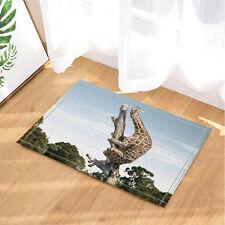 Giraffe in the tree Kitchen Bath Bathroom Shower Floor Home Door Mat Rug 40x60cm