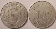 Salins-Les-Bains (39), F.C.I.M., 260è Section, 10 Centimes 1922, Rare !!