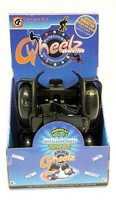 Fersenroller Leuchtrollen für Schuhe Flashing Roller Kinder schwarz 2 Stück