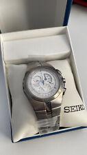 Seiko Arctura Kinetic Chronograph Titanium White Dial Men's Watch SNL005