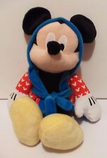 Disney Mickey Mouse Plush Soft Toy Animal Figure In Red Bathrobe Tv Film Doll