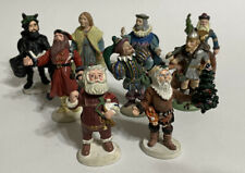 Duncan Royale Nine Pewter Santa Figurines - 1986