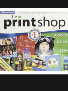 NEW Broderbund The Print Shop Version 23 PC DVD Rom Desktop Publishing Software